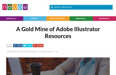 http://www.noupe.com/design/a-gold-mine-of-adobe-illustrator-resources.html