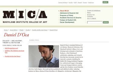 http://www.mica.edu/About_MICA/People/Faculty/Faculty_List_by_Last_Name/Daniel_DOca.html