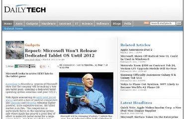 http://www.dailytech.com/Report+Microsoft+Wont+Release+Dedicated+Tablet+OS+Until+2012/article21051.htm