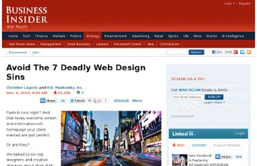 http://www.businessinsider.com/7-deadly-web-design-sins-2010-11?op=1