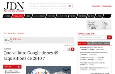 http://www.journaldunet.com/ebusiness/le-net/acquisitions-de-google-en-2010/