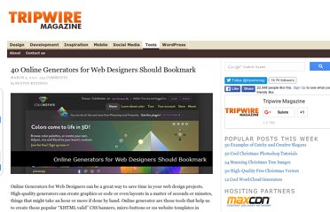 http://www.tripwiremagazine.com/2011/03/40-online-generators-for-web-designers-should-bookmark.html