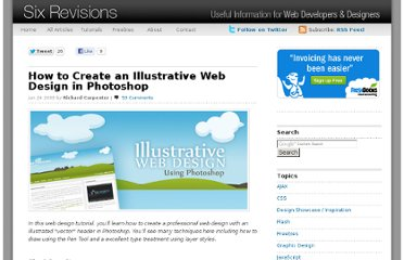http://sixrevisions.com/tutorials/photoshop-tutorials/how-to-create-an-illustrative-web-design-in-photoshop/