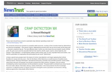 http://newstrust.net/guides/crap-detection-101