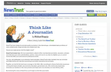 http://newstrust.net/guides/think-like-a-journalist
