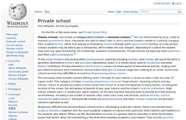 http://en.wikipedia.org/wiki/Private_school