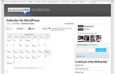 http://www.bloggingpro.com/archives/2008/09/20/calendar-for-wordpress/