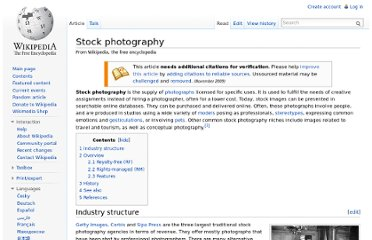 http://en.wikipedia.org/wiki/Stock_photography