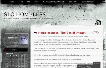 http://slohomeless.wordpress.com/2008/05/29/homelessness-the-social-impact/