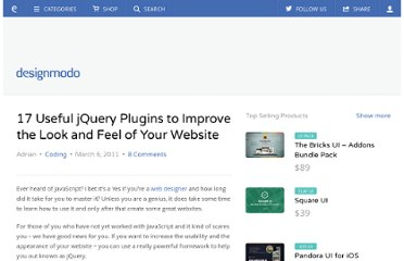 http://designmodo.com/17-useful-jquery-plugins-to-improve-the-look-and-feel-of-your-website/