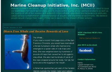 http://marinecleanupinitiativeinc.blogspot.com/2010/12/divers-free-whale-and-receive-rewards.html