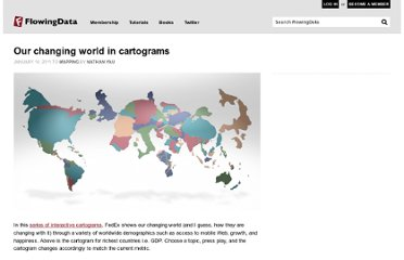 http://flowingdata.com/2011/01/10/our-changing-world-in-cartograms/