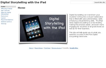 http://sites.google.com/site/digitalstorytellingwiththeipad/home