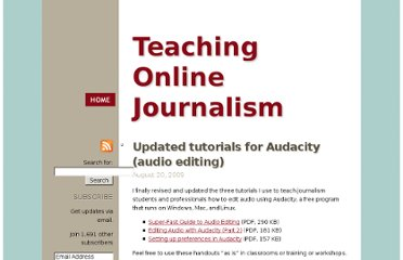 http://mindymcadams.com/tojou/2009/updated-tutorials-for-audacity-audio-editing/