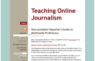 http://mindymcadams.com/tojou/2009/now-printable-reporters-guide-to-multimedia-proficiency/