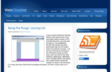 http://www.webchicklet.com/css/taking-the-plunge-learning-css/