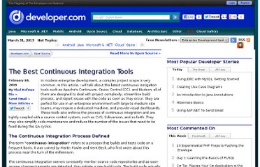 http://www.developer.com/open/article.php/3803646/The-Best-Continuous-Integration-Tools.htm
