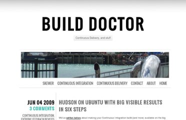 http://www.build-doctor.com/2009/06/04/hudson-continuous-integration-ubuntu-big-visible/