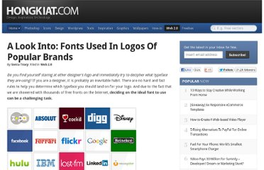 http://www.hongkiat.com/blog/fonts-used-logos-popular-brands/