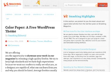 http://www.smashingmagazine.com/2008/10/30/color-paper-a-free-wordpress-theme/