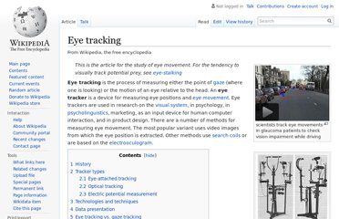 http://en.wikipedia.org/wiki/Eye_tracking