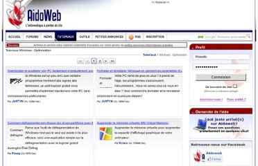 http://www.aidoweb.com/tutoriaux/72/windows-optimisation/