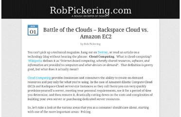 http://robpickering.com/2010/08/battle-of-the-clouds-rackspacecloud-vs-amazon-ec2-247