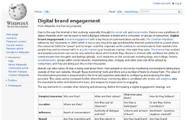 http://en.wikipedia.org/wiki/Digital_brand_engagement
