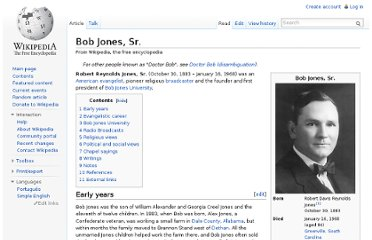 http://en.wikipedia.org/wiki/Bob_Jones,_Sr.