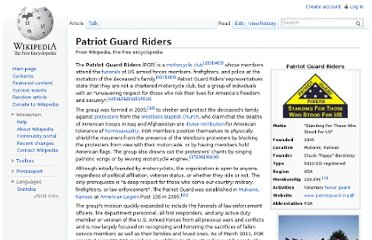 http://en.wikipedia.org/wiki/Patriot_Guard_Riders