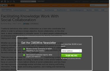 http://www.cmswire.com/cms/enterprise-collaboration/facilitating-knowledge-work-with-social-collaboration--010419.php