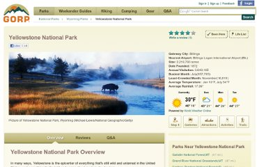http://www.gorp.com/parks-guide/yellowstone-national-park-outdoor-pp2-guide-cid9447.html