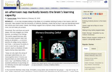 http://newscenter.berkeley.edu/2010/02/22/naps_boost_learning_capacity/