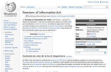 http://fr.wikipedia.org/wiki/Freedom_of_Information_Act