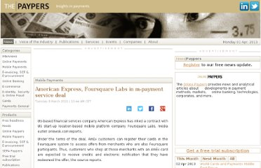 http://www.thepaypers.com/news/mobile-payments/american-express-foursquare-labs-in-m-payment-service-deal/743646-16