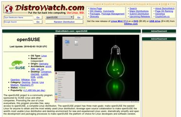 http://distrowatch.com/table.php?distribution=suse