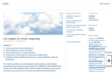http://www.kinaze.org/les-risques-du-cloud-computing/