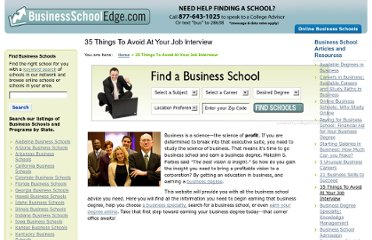 http://www.businessschooledge.com/35-things-to-avoid-at-your-job-interview