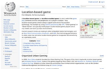 http://en.wikipedia.org/wiki/Location-based_game