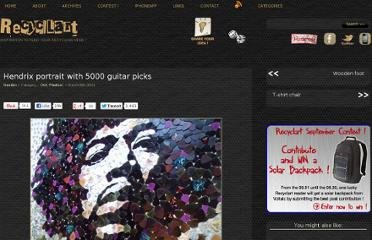 http://www.recyclart.org/2011/03/hendrix-portrait-with-5000-guitar-picks/