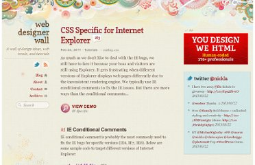 http://webdesignerwall.com/tutorials/css-specific-for-internet-explorer