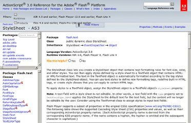 http://help.adobe.com/en_US/FlashPlatform/reference/actionscript/3/flash/text/StyleSheet.html