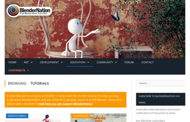 http://www.blendernation.com/category/education/tutorials/