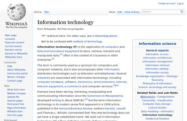 http://en.wikipedia.org/wiki/Information_technology