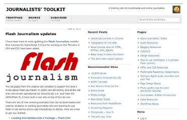 http://www.jtoolkit.com/wp/2011/03/flash-journalism-updates/