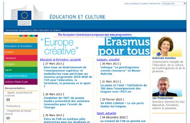 http://ec.europa.eu/dgs/education_culture/index_fr.htm