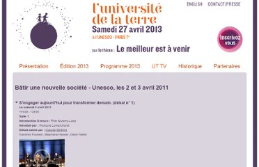 http://www.universitedelaterre.com/videos.php#