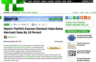 http://techcrunch.com/2011/03/09/report-paypals-express-checkout-helps-bump-sales-by-18-percent/