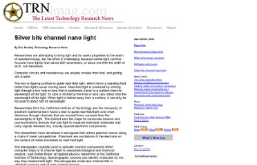 http://www.trnmag.com/Stories/2003/042303/Silver_bits_channel_nano_light_042303.html