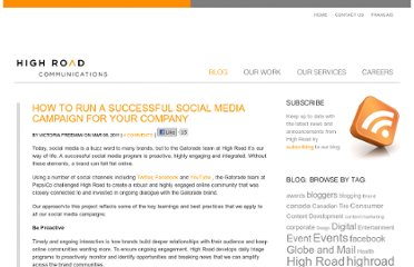 http://www.highroad.com/en/blog/how-to-run-a-successful-social-media-campaign-for-your-company/